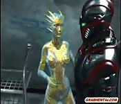 Futuristic porn animation