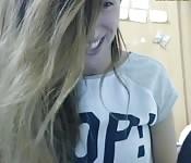 Incrível e angelical garota webcam
