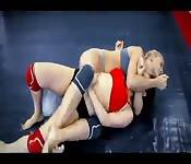 Heiße Lesben-Wrestler