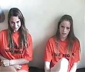 Deux filles hollandaises sucent une bite