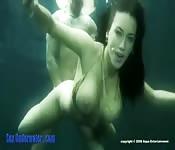 Baise sous l'eau