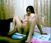 Una bellissima amatrice via webcam