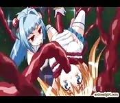 Anime grávida fodida por monstro