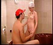 Dutch amateur couple fucking in the bathroom