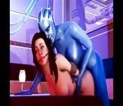 Desenho animado de sexo alien