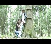 Schwanzlutschen mitten im Wald