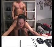 Baise devant la webcam