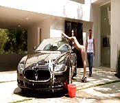 Lavage anal avec Jayden James