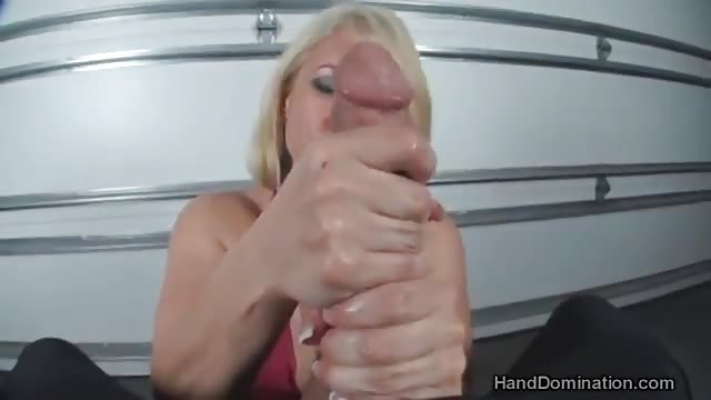 Two handed hand job
