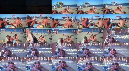 meuf a baiser orgie sur la plage