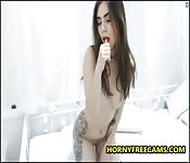 Naughty Brunette Teen Is So Fucking Horny