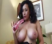 Busty slut in lingerie