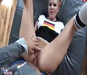 German babe is smashed