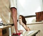 brunett couple enjoy sex on vacation