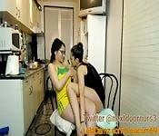 Hot lesbians at home