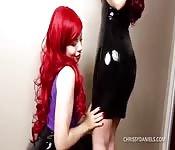 Cosplay redhead lesbians