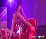 lesbian porn show on public stage
