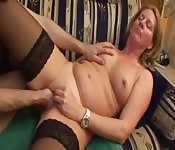 Hot and horny milf fucks nerd man