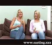 Casting with two russian girls