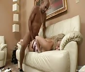 Big cock black guy with big tit blonde