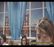 Russian Lesbian Licks Her GFs Pussy Jizz