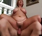 BBW woman get fucked really hard