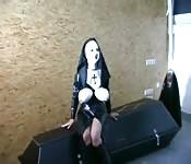 Very kinky fetish nun