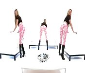 Garota usando leggings apertadas