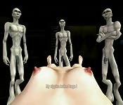 Alieni hentai costruiscono un uomo sexy per la goduria