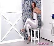 Chica rusa sexy en látex