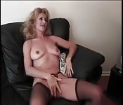 Horny mature woman gets relief from a manwhore