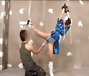 I cosplay di Guile e Chun-Li si divertono