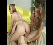 Deux femmes au foyer se font baiser par le voisin