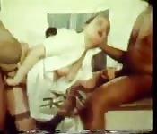 El típico vídeo de sexo de negro y blanca