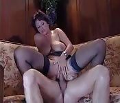 Mature MILF sucks and rides a thick cock
