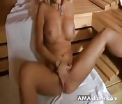 german amateur creampie in privat sauna
