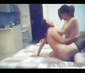 Asian lesbians having fun