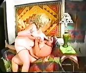 Chubby lesbians fuck each other