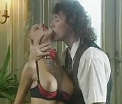 A fervent and intense German couple's intercourse