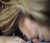 Pretty girlfriend loves giving head