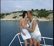 White Couple Enjoy Hard Sex Outdoors
