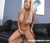Dirty blonde bitch enjoying a hardcore fuck