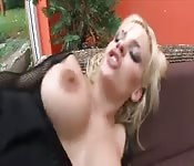 Blonde Milf fucked by young stud