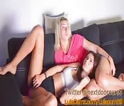 Sexy Girls Masturbating On A Couch