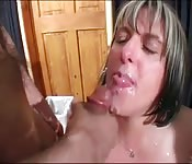 Slutty milfs bukkake session