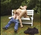 British MILF fucks her garden boy