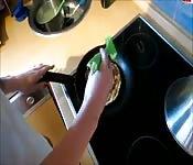 Pfannkuchen mit Creampie
