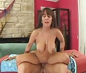 Busty milf riding cock