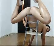Spaß auf einem Stuhl