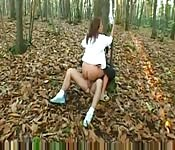 Sylvia Laurent fucked in the woods